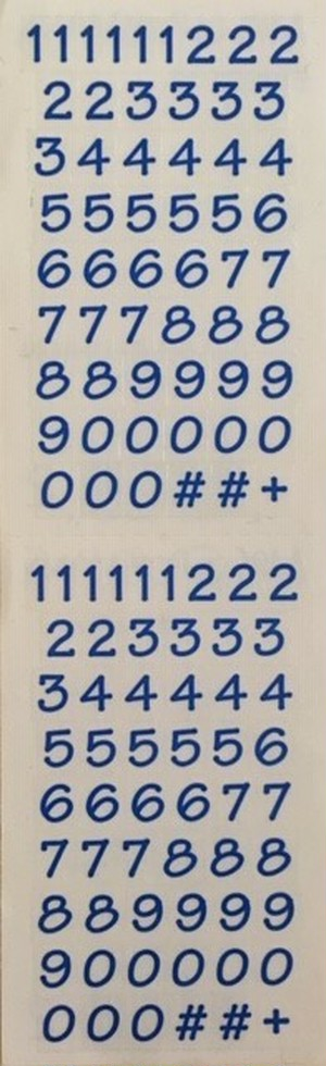 Numbers Bitsy, blue