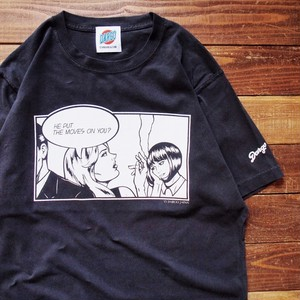 "【DARGO】 ""Girl Talk"" Sun Fade T-shirt (BLACK)"
