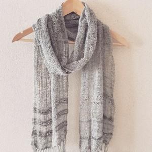 手織り シルクマフラー 0010 handweaving scarf