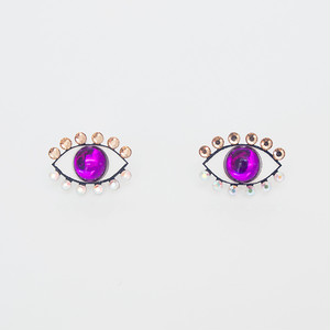 Medama Pierces / Earrings(S) -violet-