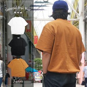 Universal Style Wear  ユニバーサルスタイルウェア ビッグシルエット シャーリング Tシャツ 602403 半袖Tシャツ 無地T ヘビーオンス 全3色