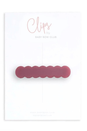 BABY BOW CLUB Scallop Clip // Rose