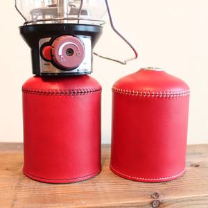 What will be will be & Greenfield レザー OD缶 ガス缶 カバー (大:470g/500gサイズ) ハンドメイド レザー 本皮 アウトドア キャンプ グッズ wb0003gf