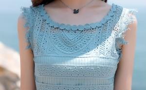 ♡PINK & BLUE総レースワンピース