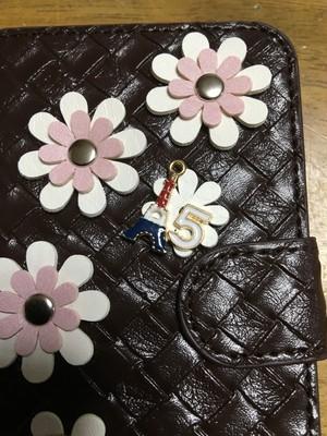 ほぼ全機種対応携帯ケースお花がいっぱいブラウン&ホワイト