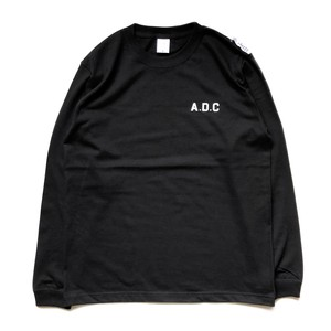 slogan long sleeve tee (rib) black
