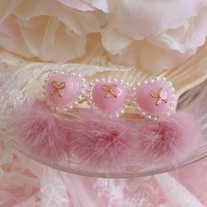 Petite Heart Fur Ring ♡