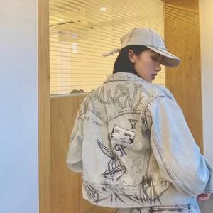 back rabbit graffiti jacket