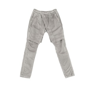 607PAM4-GRAY / アタッチドサイドレススカートパンツ