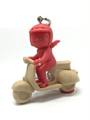 蜂バイク 茶×赤系