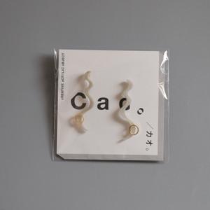 CAO アクリルピアス -marble gray-