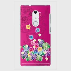 【ARROWSシリーズ】Tropical Pink トロピカル・ピンク ツヤありハード型スマホケース