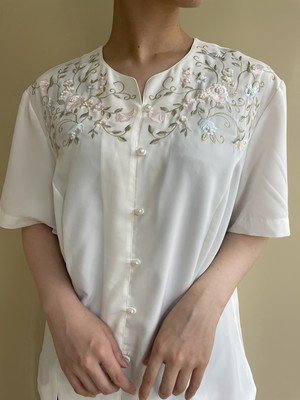 flower embroidery blouse / 7SSTP17-03