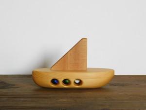 お風呂で遊べる 木のおもちゃ ヨット①