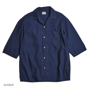 GOHEMP・SHITAMACHI SHIRTS/MINI SUCKER STRIPE & MINI HERRINGBONE