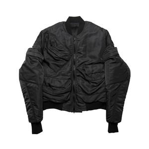 677BLM7-BLACK / マルチポケットボンバージャケット