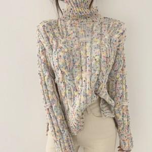 【即納】marble knit