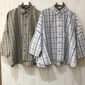 チェックワイドシャツ(TD0093)
