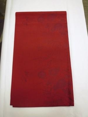 えんじ色の袋帯