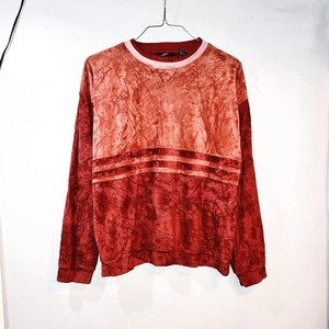 two tone velours pullover