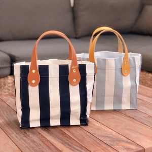 Stripe tote bag XS - Leather