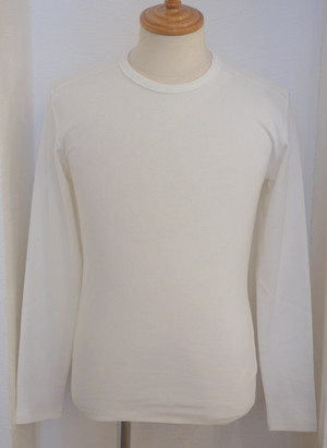 High Tension Circular Rib C/N Long Sleeve TEE OFFWHITE