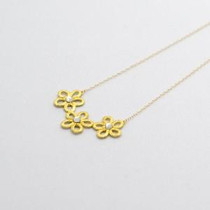 金箔レースネックレス Gold-Knot トリオ