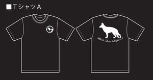 ホワイトシェパード。ホワイトスイスシェパードのオリジナル Tシャツ