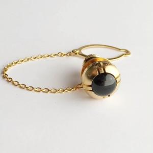 ゴールド タイタック(ラペルピン) 純銀張七宝