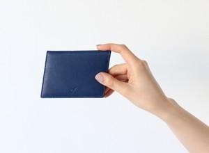 10° カードケース(藍染・牛革)名刺入れ