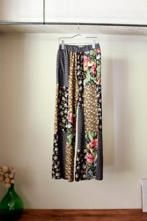 MALION VINTAGE マリオンビンテージ flower patchwork pants A