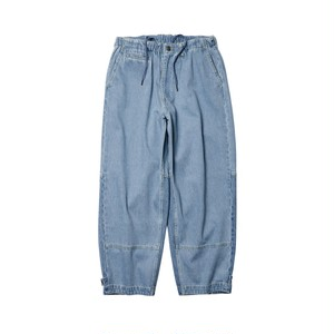 EVISEN STITCH DENIM PANTS BLUE