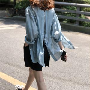 4色/オープンバックデザインライトシャツ ・2233