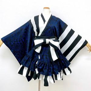 着物ドレス*レトロモダン(ブルー)