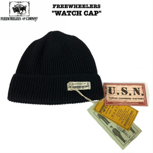 """U.S.NAVY WATCH CAP"" FREEWHEELERS / フリーホイーラーズ NAVAL CLOTHING FACTORY ワッチキャップ"