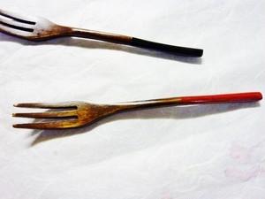 木製フォーク(黒・赤)
