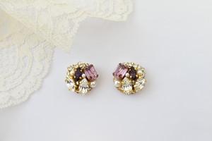 【Kayla】ピアス&イヤリング・綺麗な紫の上品さ・紫