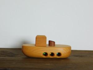 お風呂で遊べる 木のおもちゃ タグボート