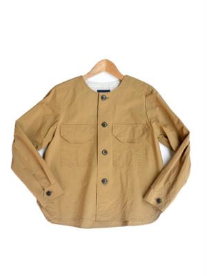 Le minor(ルミノア) ハイドタフタノーカラーシャツジャケット MOCA