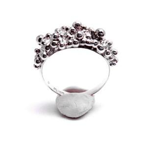 martine 華やかでボリュームたっぷりのシルバーリング/指輪 【シルバー925】