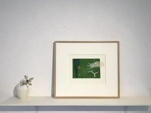 [版画アマビエ展]岡田まりゑ「祈りを届ける」銅版画 OKADA Marie, etching