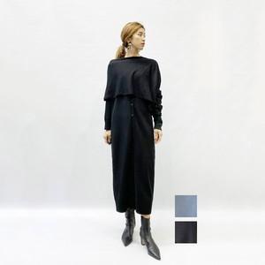 RIM.ARK(リムアーク) Cross arrange long knit OP [送料無料]