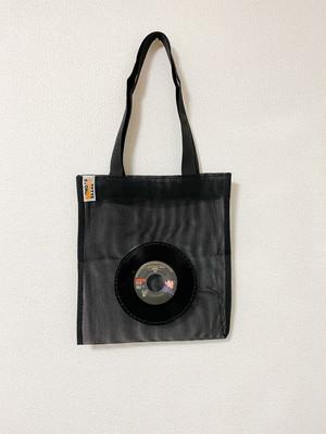 7インチレコードメッシュバッグ・ブラック/ミッドナイト