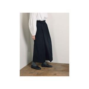 Mochi モチ ラップワイドパンツ ブラック ma9-p-01