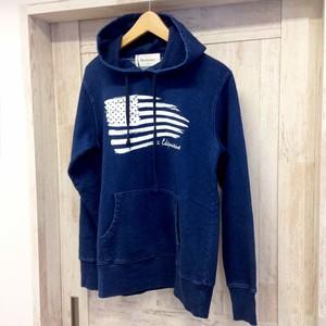 American Flag / Indigo Denim Hooded Sweatshirt / メンズ / レディース / パーカー