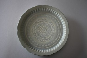 マルヤマウエア|三島リム皿8寸A