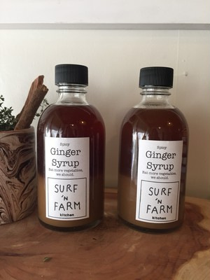 GINGER SYRUP (spicy) /       SURF 'N FARM kitchen