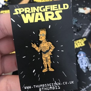 "THUMBS""Frink x Springfield Wars Pin Badge"""