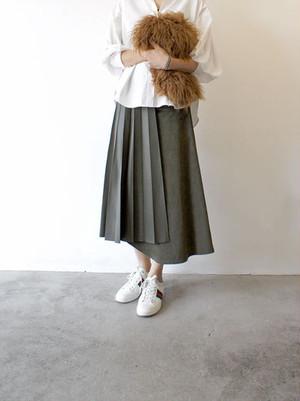 エコレザープリーツスカート/near.nippon