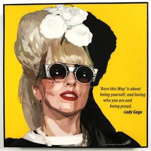 ポップアートパネル Lady Gaga/レディー・ガガ B